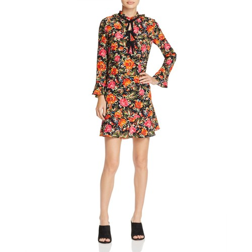 SANDRO Doreen Silk Mini Dress