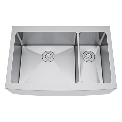 Exclusive Heritage All-in-One Farmhouse Stainless Steel 36 in. 70/30 Double Bowl Kitchen Sink