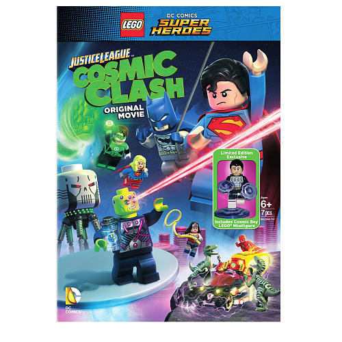 LEGO DC Comics Super Heroes: Justice League Cosmic Clash Limited Edition DVD with 7 Piece Action Figure