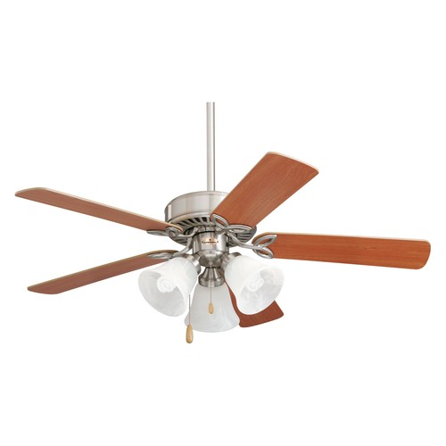 Emerson Ceiling Fans CF710BS Pro Series II Low Profile Hugger Ceiling Fan With Light, 42-Inch Blades, Brushed Steel Finish [Brushed Steel, 42-Inch, Pro Series II]