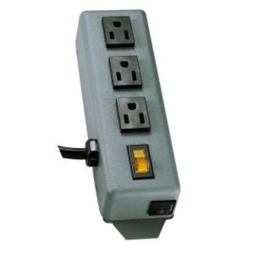 Tripp Lite Waber Power Strip Metal 5-15R 3 Outlet 5-15P 6 ft. Cord