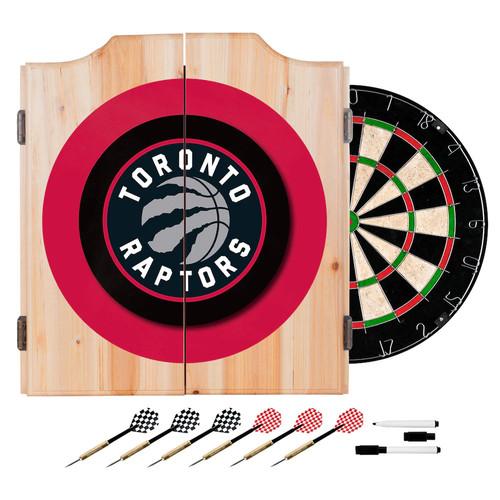 Toronto Raptors NBA Wood Dart Cabinet Set