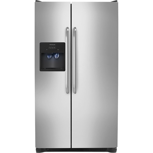 Frigidaire - 22.6 Cu. Ft. Side-by-Side Refrigerator with Thru-the-Door Ice and Water - Stainless Steel