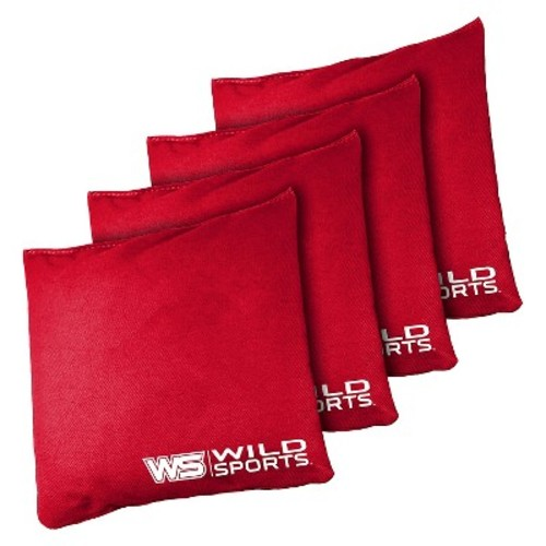 Wild Sports 16oz Bean Bag Authentic Cornhole 4 Pack Red