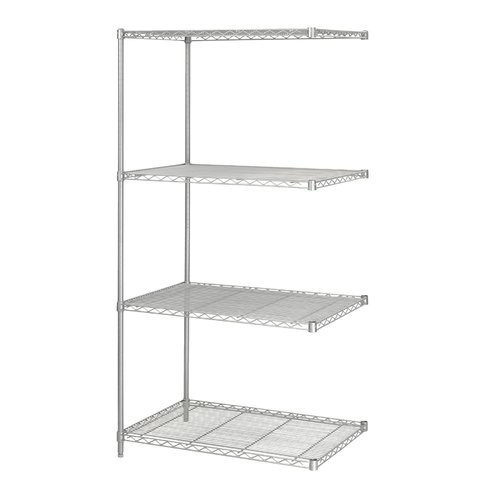 Safco Products 5289GR Industrial Wire Shelving Add-On Unit 36