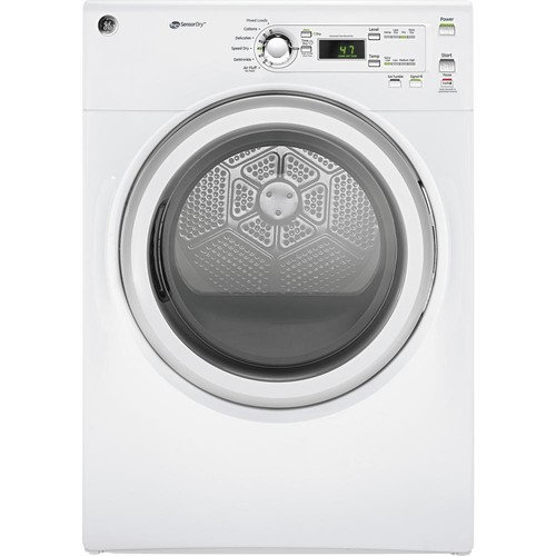 GE 7.0 cu. ft. 240-Volt White Stackable Electric Vented Dryer, ENERGY STAR