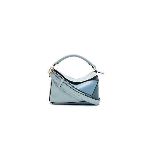 Loewe Small Puzzle Bag in Aqua, Light Blue & Stone Blue
