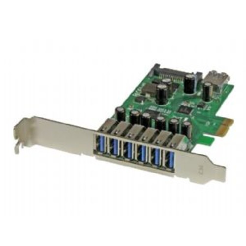 StarTech.com 7-Port PCI Express USB 3.0 card - Standard & Low-Profile - USB adapter - PCI Express 2.0 x1 - USB, USB 2.0, USB 3.0 (PEXUSB3S7)