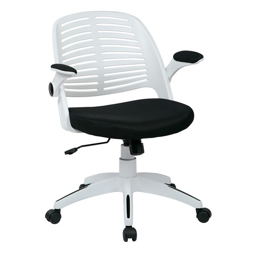 Avenue Six Tyler Office Chair With White Frame And Fabric Seat