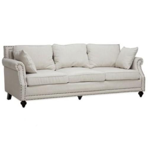 Baxton Studio Mckenna Linen Modern Sofa in Beige