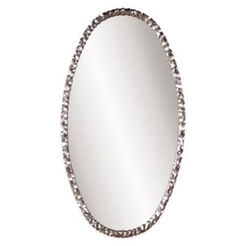 Howard Elliott Memphis 36-Inch x 66-Inch Oval Mirror in Silver