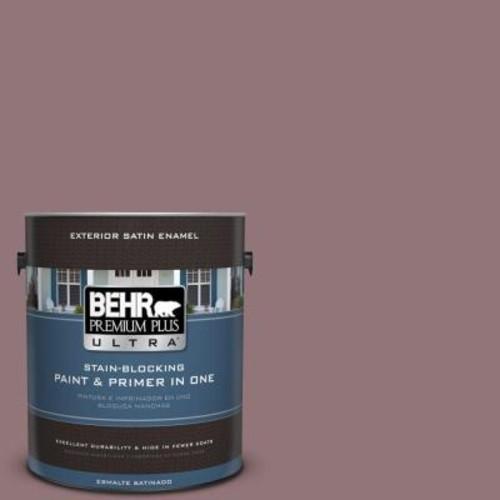 BEHR Premium Plus Ultra 1-gal. #110F-5 Phantom Hue Satin Enamel Exterior Paint