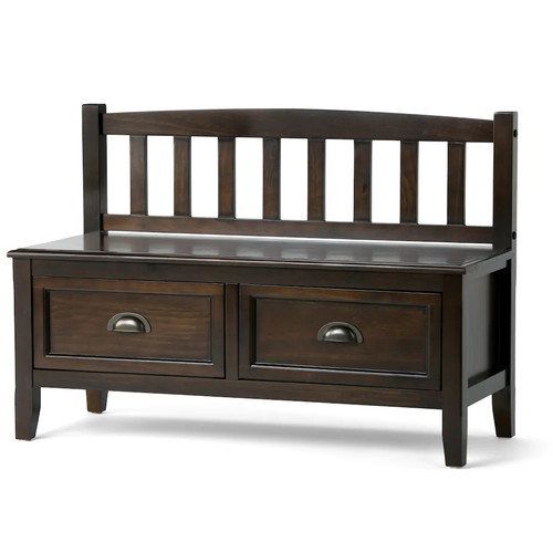 Simpli Home Burlington Entryway Storage Bench