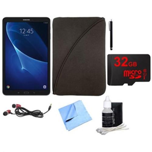 Samsung Galaxy Tab A 16GB 10.1-inch Tablet w/ 32GB Card, Case & More Bundle - Black