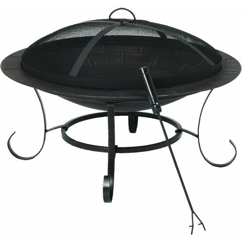 Outdoor Expressions 30 In. Steel Fire Pit - FT-51127