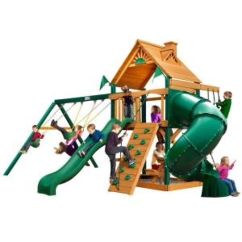 Gorilla Playsets Mountaineer with Timber Shield Cedar Playset