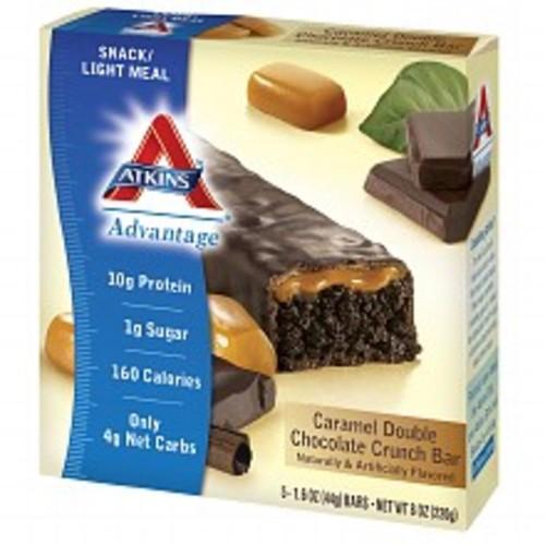 Atkins Advantage Snack Bars Caramel Double Chocolate Crunch