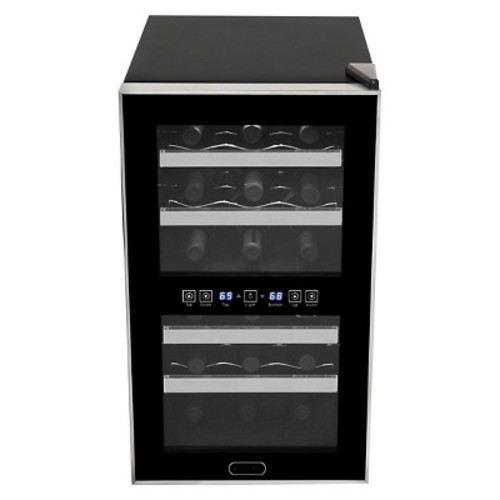 Whynter 18 Bottle Dual Zone Thermoelectric Wine Cooler - Black WC-181DS
