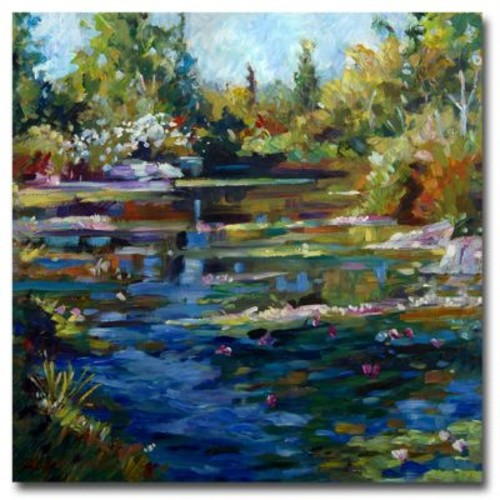 Trademark Fine Art 'Blooming Lily Pond' 35