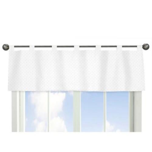 Sweet Jojo Designs Minky Dot Window Valance in White