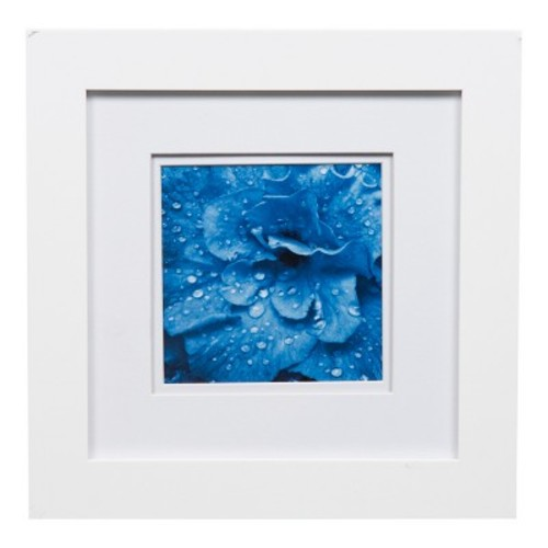 Single Image 8X8 Wide Double Mat White 5X5 Frame - Gallery Solutions