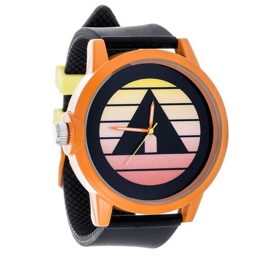 Airwalk Metal Alloy Design w/ Orange Case and Black Strap Analog Watch