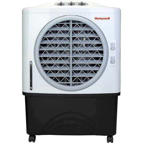 Honeywell - Portable Indoor/Outdoor Evaporative Air Cooler - White/Gray