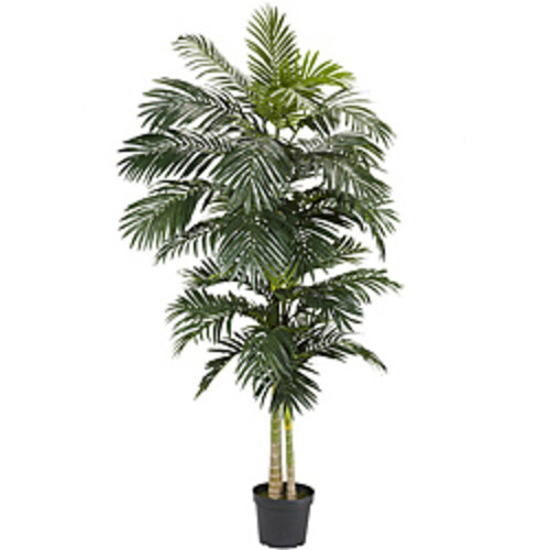 Nearly Natural Artificial Plants Areca 7-foot Silk Palm Tree