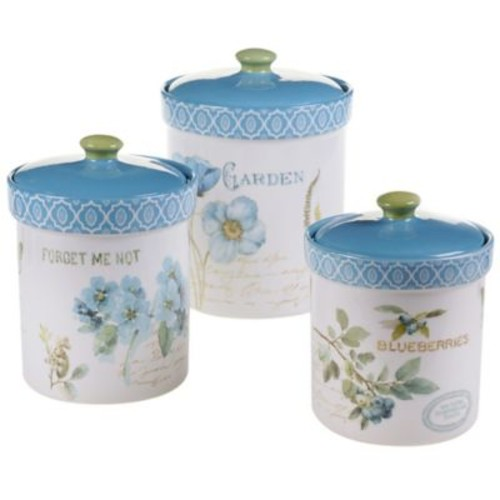 Certified International Greenhouse 3-Piece Canister Set