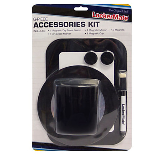 LockerMate Locker Accessory Kit, Black