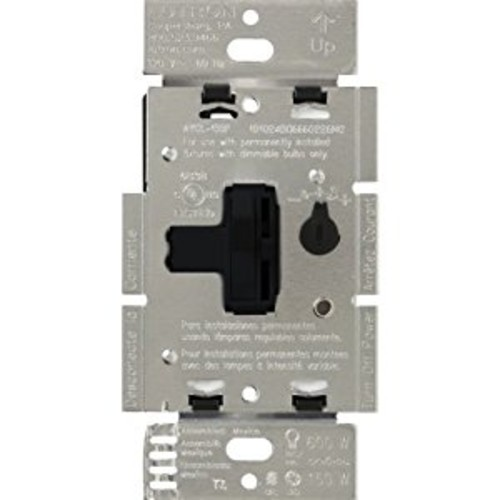 Lutron AYCL-153P-BL Ariadni/Toggler 150 Watt Single-Pole/3-Way Dimmable CFL/LED Dimmer, Black [Black]