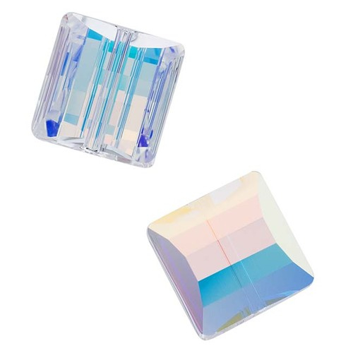 Crystal Ab 14mm Stairway (Square) Bead
