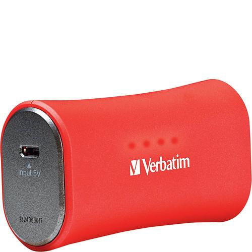 Verbatim Portable Power Pack, 2200mAh - Red