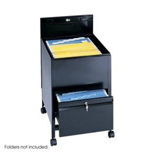 Safco Products Safco 5365BL Black Locking Mobile Tub File with Drawer- Legal Size