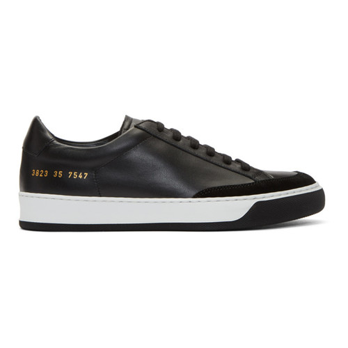 WOMAN BY COMMON PROJECTS Black Tennis Pro Sneakers