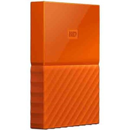 Western Digital WD 4TB My Passport Portable Hard Drive - Orange