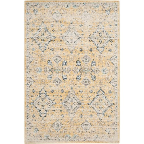 Safavieh Evoke Collection EVK224B Contemporary Bohemian Gold and Ivory Area Rug (2'2