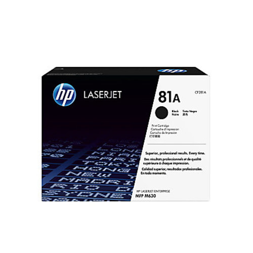 HP LaserJet 81A Black Toner Cartridge (CF281A)