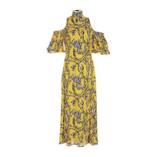 ELLERY Deity Flared Cutout Dress