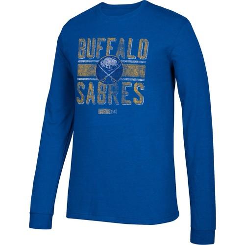 CCM Men's Buffalo Sabres Line Brawl Royal Long Sleeve Shirt
