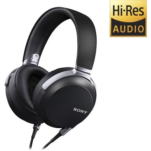 Sony - Over-the-Ear Hi-Res Headphones - Black