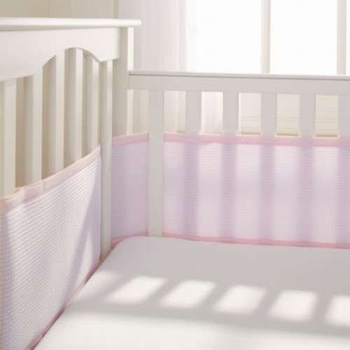 Breathable Baby Deluxe Breathable Mesh Crib Liner in Pink