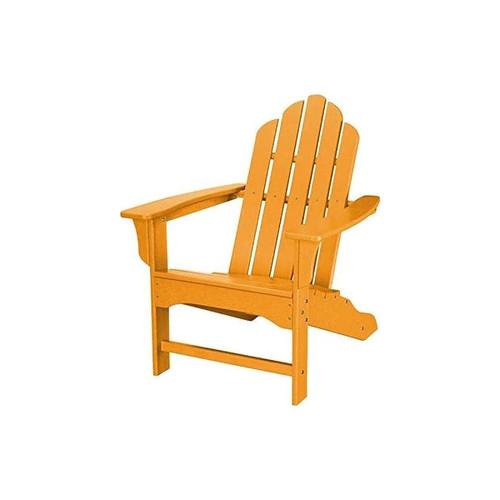 Hanover Outdoor HVLNA10TA All-Weather Contoured Adirondack Chair - Tangerine