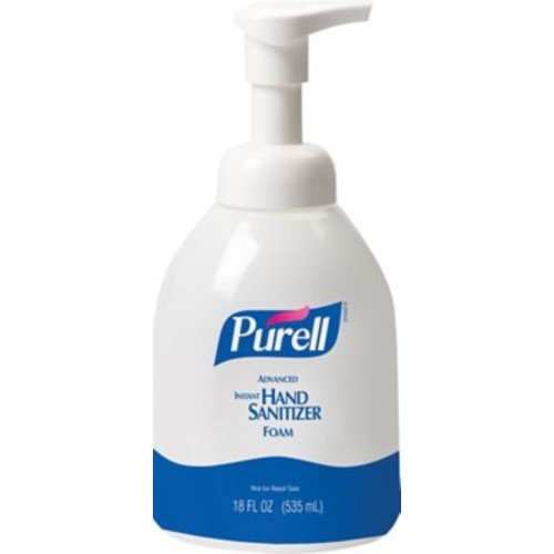 PURELL Advanced Instant Hand Sanitizer Foam, Fragrance Free, Bottle - 535 mL, 4/Ct