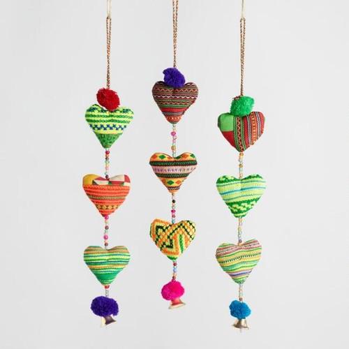 Multicolor Hearts Hanging Decor