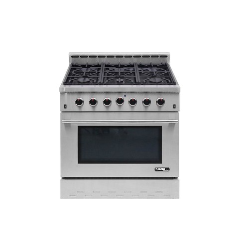 NXR Entree 36 in. 5.5 cu. ft. Professional Style Gas Range with Convection Oven in Stainless Steel
