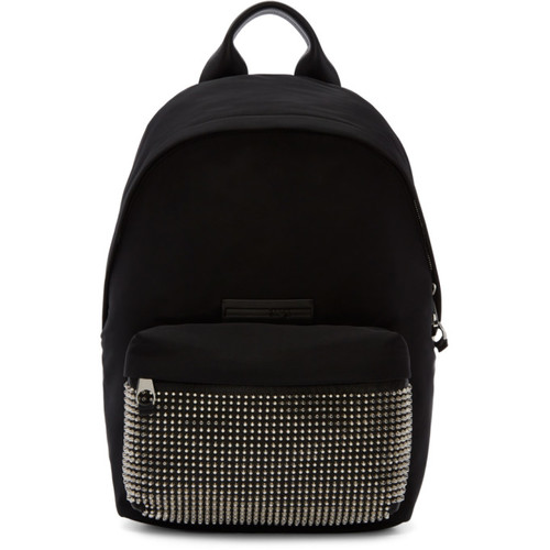 Black Studded Classic Backpack