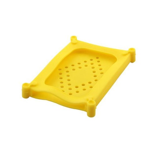Silicone HDD External Protective Shell Case Yellow for 2.5 Inch Hard Drive