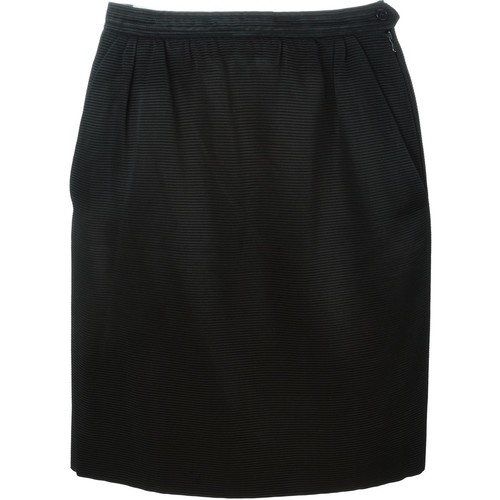 YVES SAINT LAURENT VINTAGE Ribbed Mini Skirt