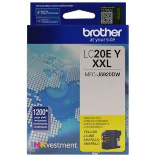 Brother LC-20EY INKvestment Super High Yield (XXL Series) Yellow Ink Cartridge